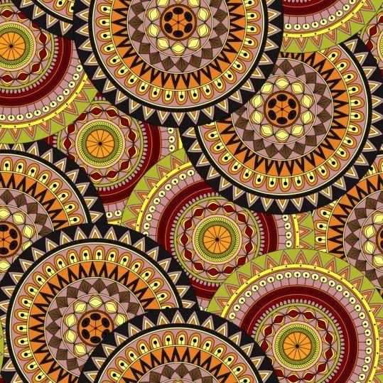 seamless round pattern Mandala