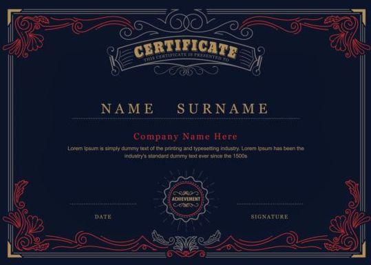 dark certificate blue