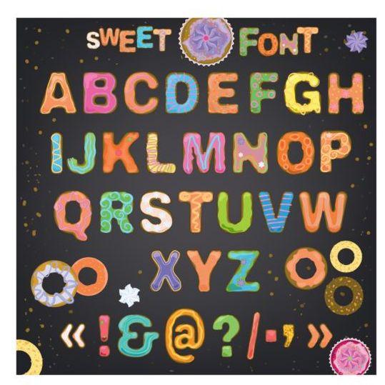 sweet font cute