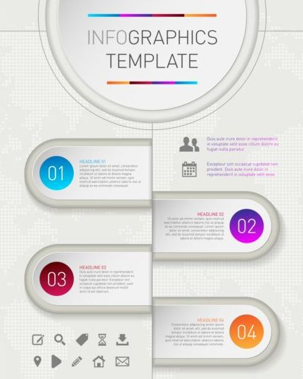 template options infographic