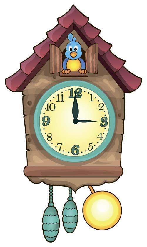 design clock cartoon baby