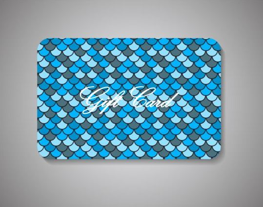 scale pattern gift fish card