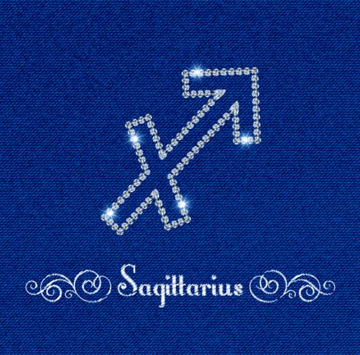 zodiac sign Sagittarius fabric background