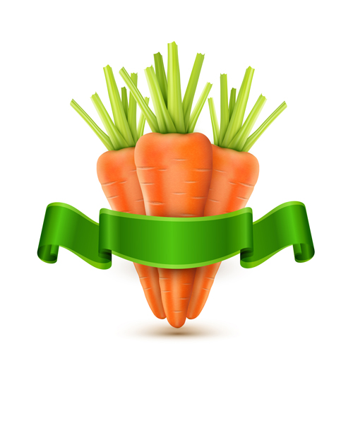 ribbon green carrot