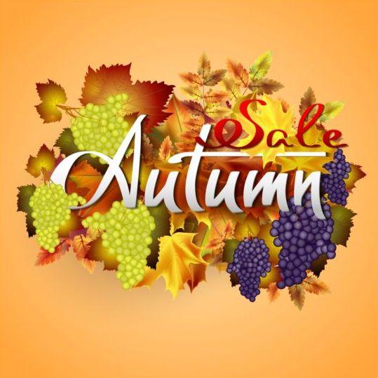 leaves grape background autumn