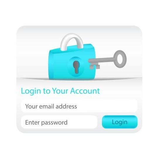 login interface creative