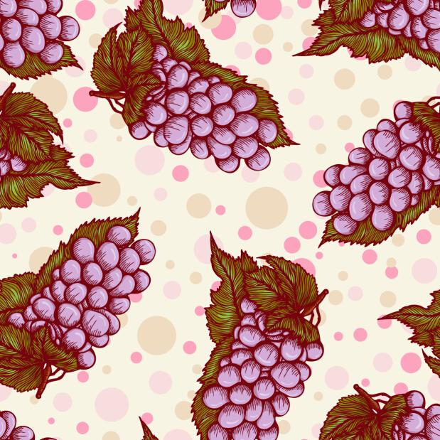 seamless pattern grape