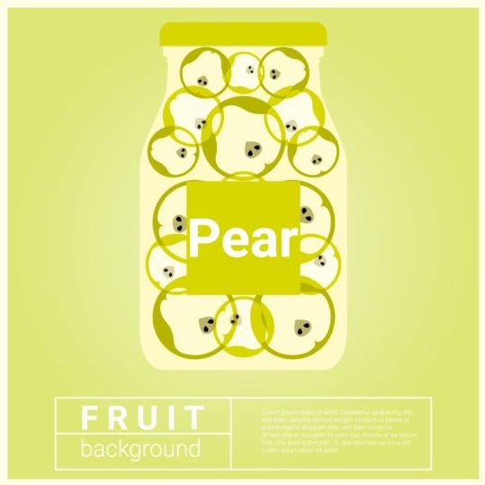 water recipe pear fruit background
