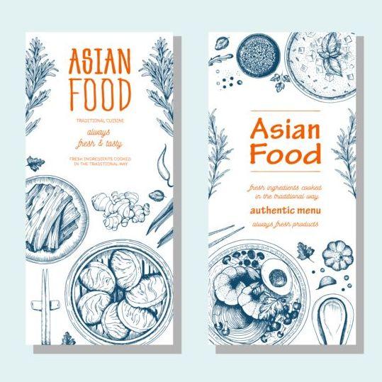 vertical menu food Asian