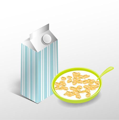 milk graphics cereal