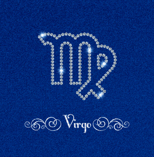 zodiac Virgo sign fabric background