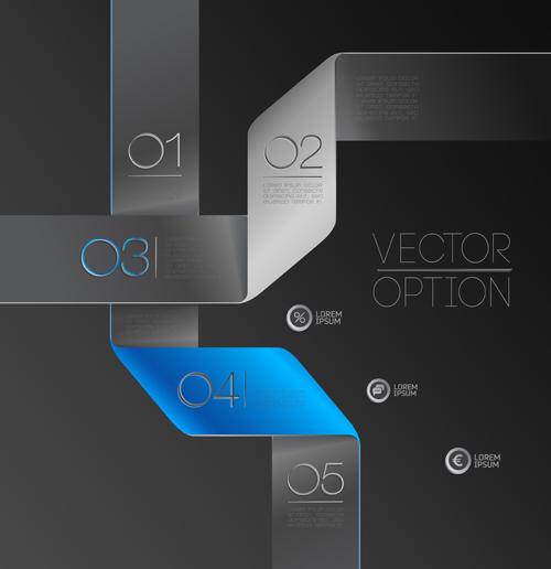 ribbon options infographics