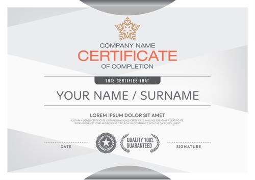 gray design certificate