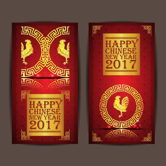 21ocou0x210sr00 Chinese new year 2017 vertical cards vector 06