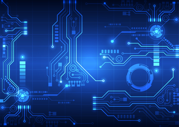 Vectors Download  High Tech Background Blue Styles Vector 01