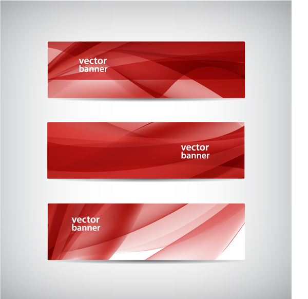 red modern banner abstract