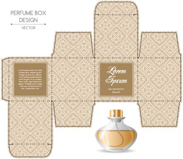 Vectors Free Download Perfume Box Packaging Template Vectors