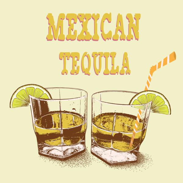 tequila Retro font poster mexican