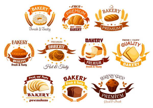 Retro font labels bakery