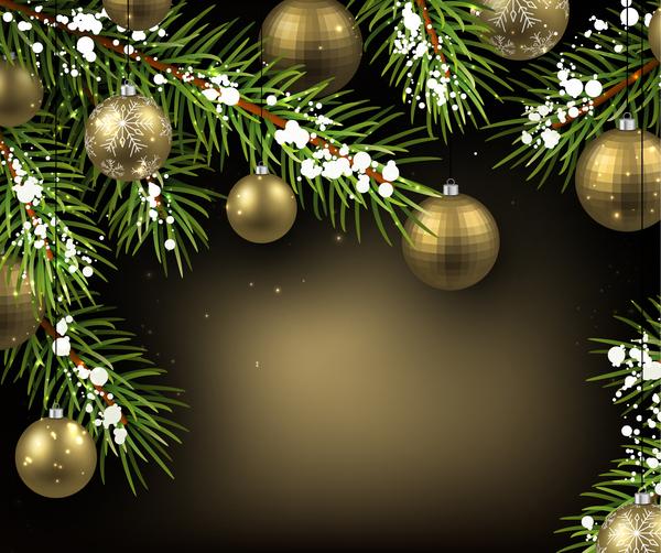 year new golden gold christmas ball