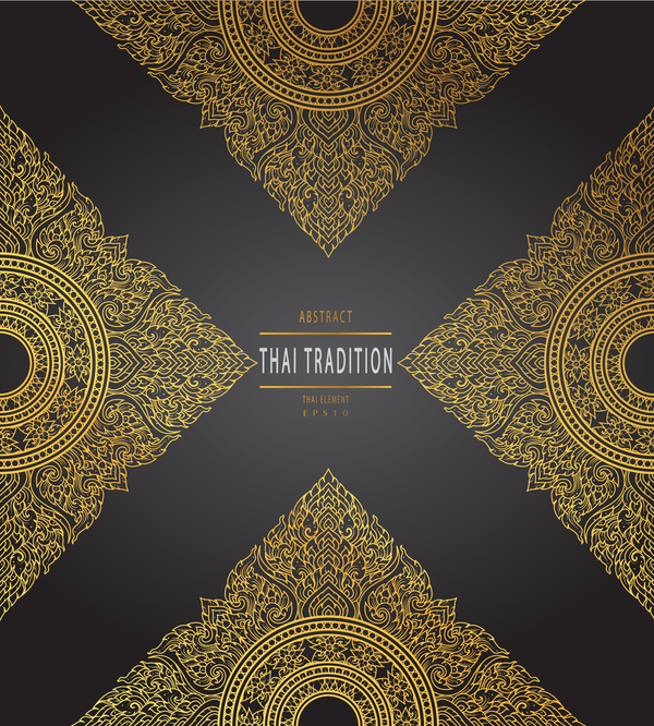vintage Tradition Thai pattern