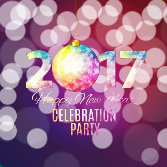 260424co14fu204 2017 new year with christmas decor background vector 08