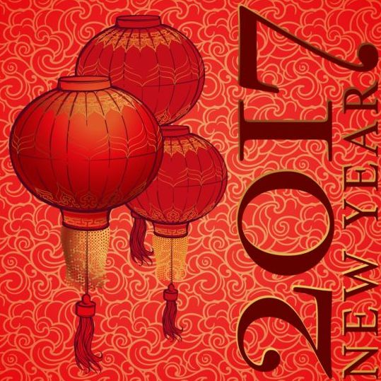 36dsz0wljfcaz04 Chinese 2017 New Year red background vector 03