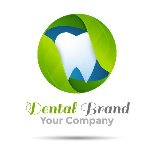 47z22lexxcyik04 Dental drand logo green vector