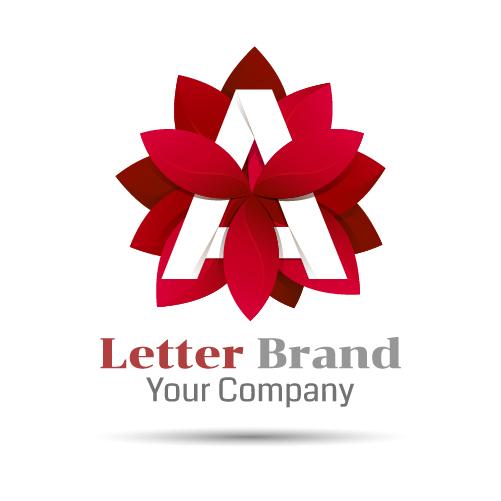 red logo letter brand
