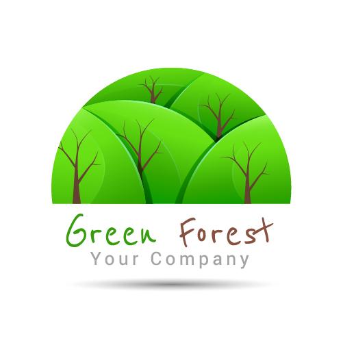 50zyphf5m4jhp04 Green forest logo design vector