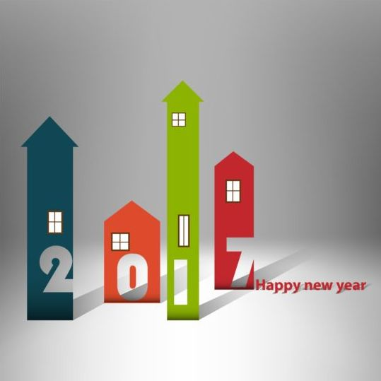 52jfigem4n3qe04 House with Happy New Year 2017 background vector