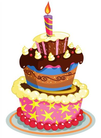 delicious candle cake birthday