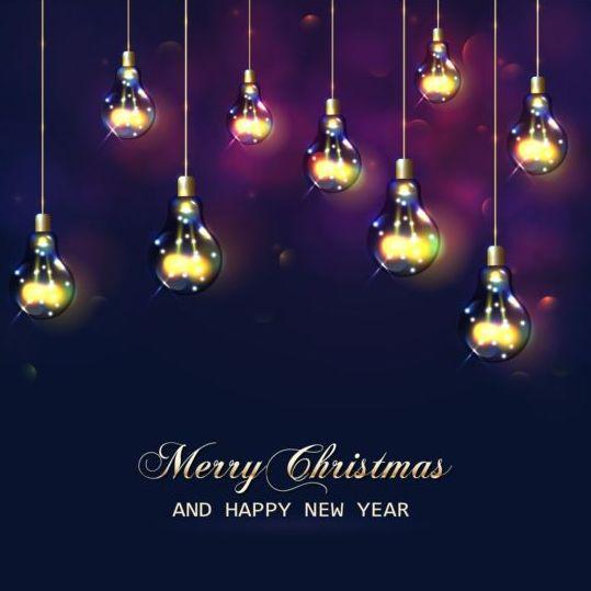 year shiny new light christmas bulb