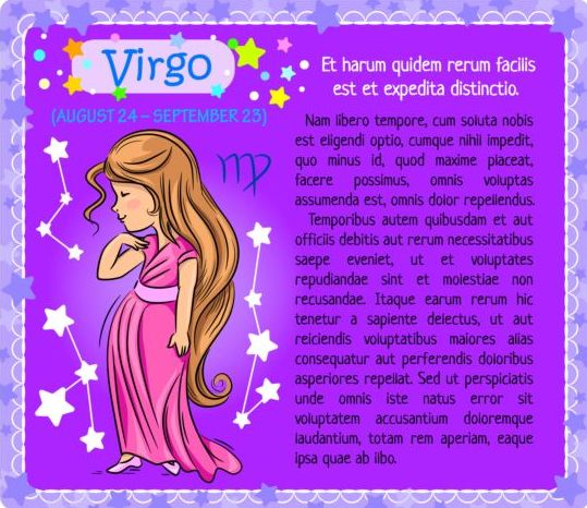 zodiac Virgo kid card