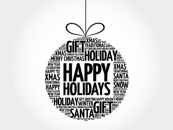 word holiday happy cloud christmas ball