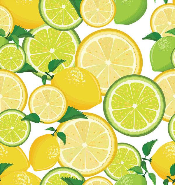 seamless pattern lime lemon