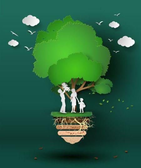 09ihc2aqils0v07 Eco concept business template design vector