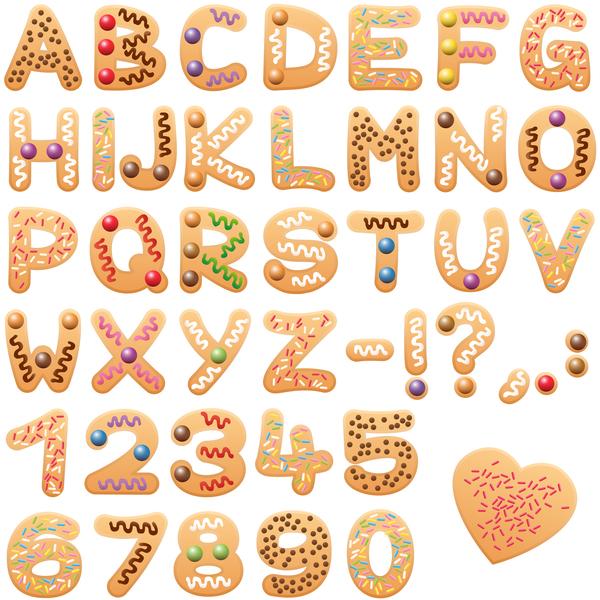 letters font cookies christmas alphabet