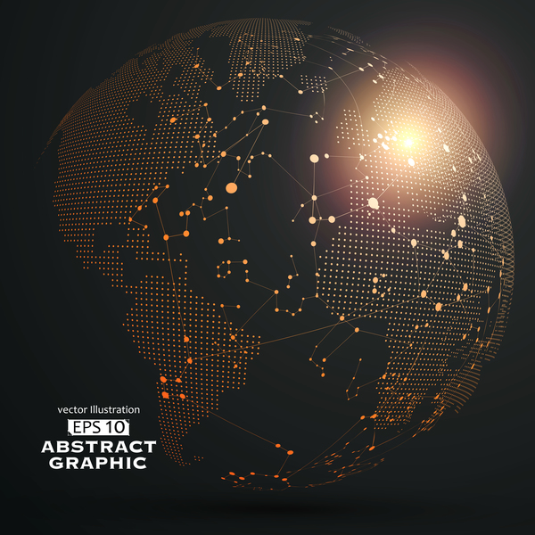 20130x2uejdvz07 Earth and technology abstract vector illustration 04