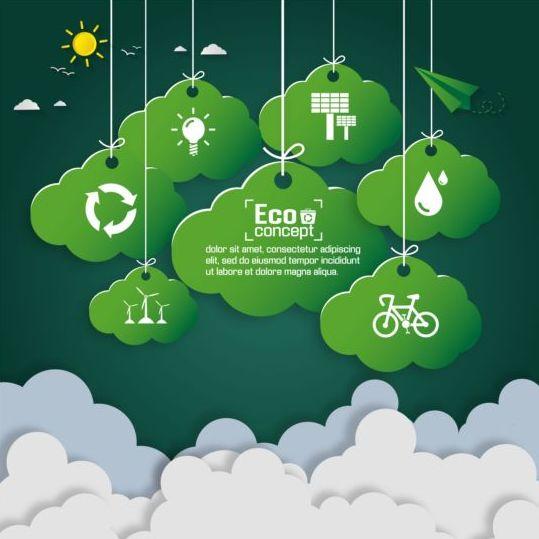 paper green eco earth cloud