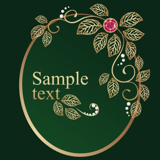 56bqe5yxawhqa07 Jewel with green background vector