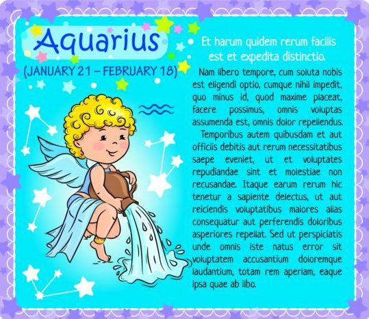 zodiac kid card Aquarius