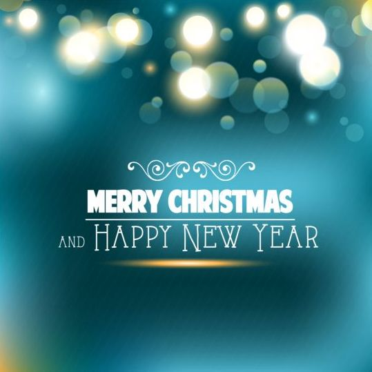 104141be0kzw208 Christmas with new year blue shiny background vector