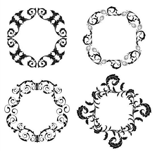 39hrp3fhf3tmy08 Floral round frame vectors 01