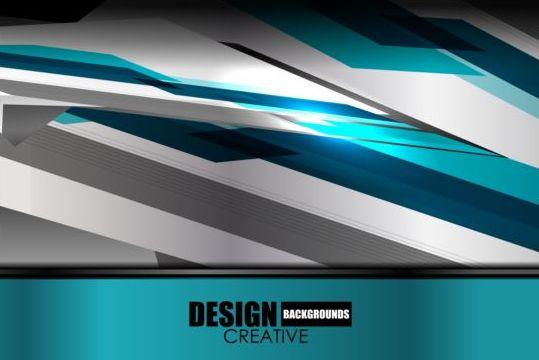 405yvttqvdh2b08 Geometric blue metal background vectors