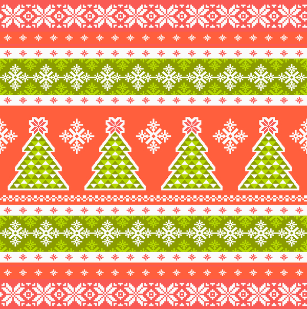 04coczplwprnk09 Traditonal knitted christmas seamless patterns vector 05
