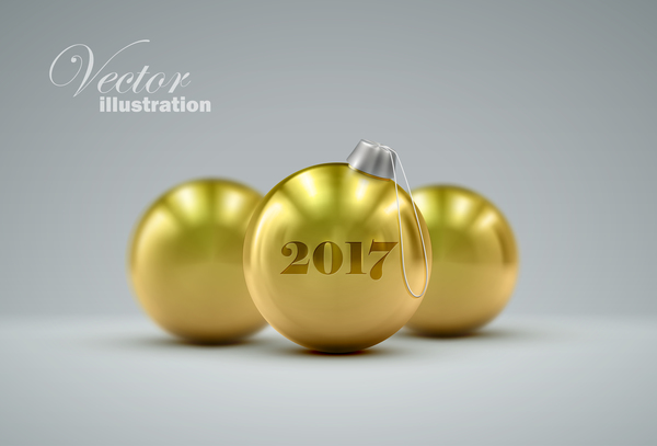 11dj2li5dfwql09 Golden christmas ball vector 03