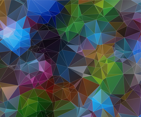 1813bo21rro1y09 Complicated polygon geometric background vector 05