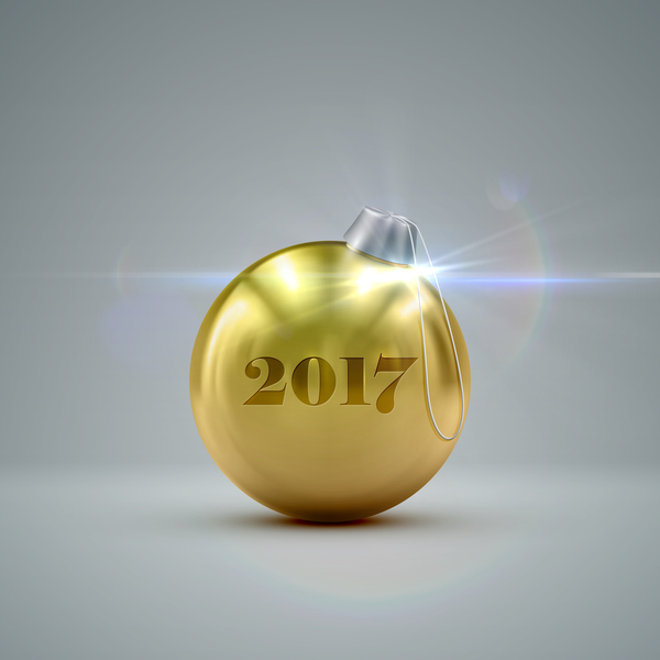255cjigh4fgde09 Golden christmas ball vector 06