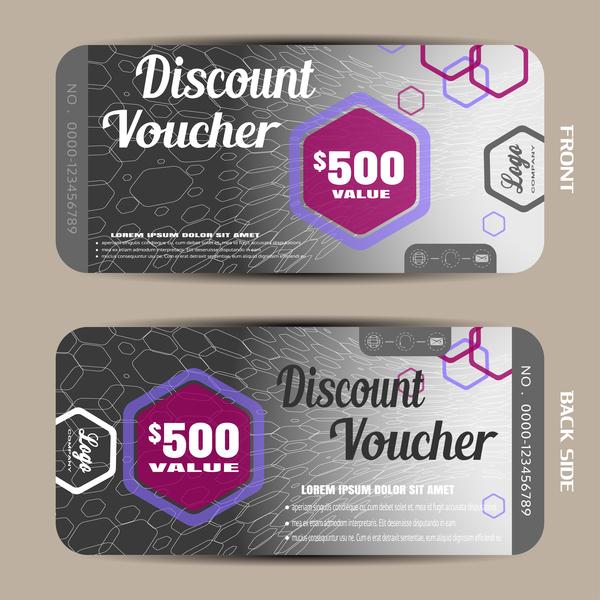 26zczpzexgie309 Modern discount voucher template vector 04